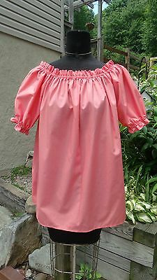 Pirate Wench Gypsy Renaissance Women's Shirt Chemise Coral THE WITCH'S SPINDLE