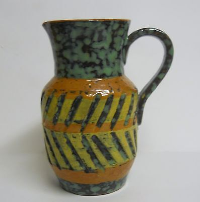 Mid Century Modern Italian Incised Pottery Pitcher