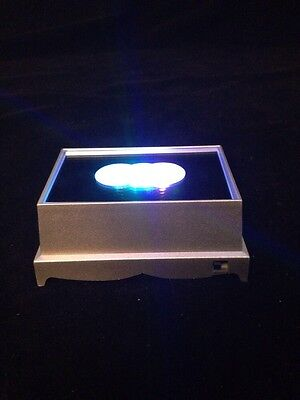 Rectangle Crystal Display 4 LED Multi- Colour Light Base MINIMUM 6 BASES