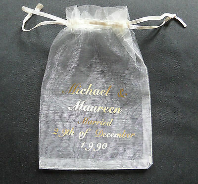 Personalised organza bag, wedding favour, party bag