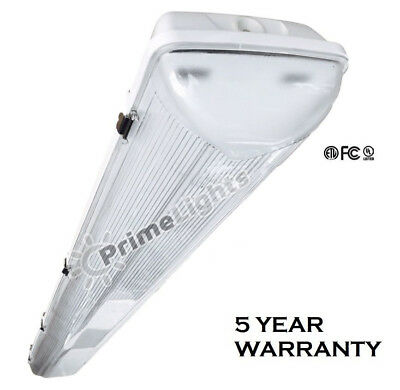 LED Vapor Tight T8 Light Fixture 4' Linear 44 Watt LED - DLC Approved- NEW