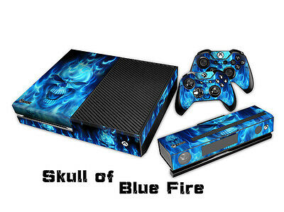 COOL BLUE FIRE X45 DECAL SKIN PROTECTIVE STICKER for XBox ONE CONSOLE CONTROLLER