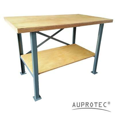 Auprotec® Workbench Pro 40mm plywood worktop powder-coated steel frame worktable
