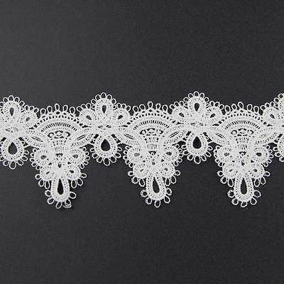 2 Yards Off-white Handmade Net Lace Trim Fabric Embellishment  Sewing Applique