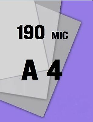 Genuine MYLAR STENCIL Blank Film Sheets LASER SAFE 10 x A4 190 micron NEW LINE