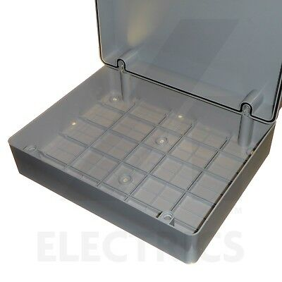 Large 380mm junction box adaptable enclosure panel weatherproof IP56 steel plate