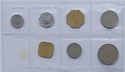 01 Sri Lanka 1, 2, 5, 10, 25, 50, Cents, 1 Rupee