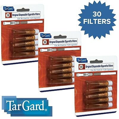 TarGard Disposable Amber Cigarette Filters 30 Pack Tar Gard Guard Stop Tar Block