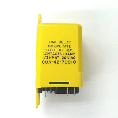 Potter & Brumfield CUA-42-70010 10 sec Delay On Operate Time Delay Relay 120V AC