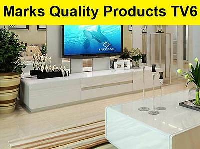 TV Cabinet White Entertainment Unit Modern High Gloss Stand Lowline Drawers TV6