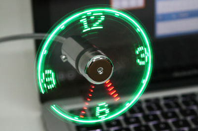 Patented USB LED Clock Fan - Coolest USB Gadget (Manufactured by Patent Holder)