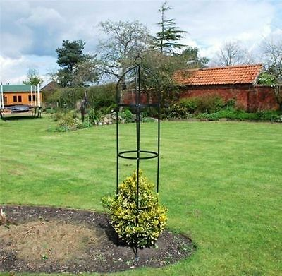 New Kingfisher Steel Garden Obelisk Garden Outdoor Rose Plant Arch 1.9M Summer