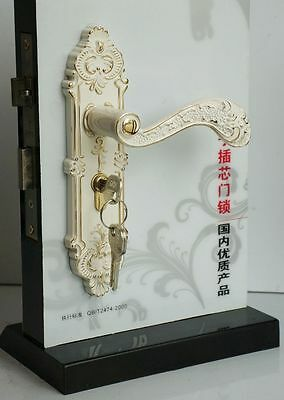 Period Style White and Gold External Door Handle