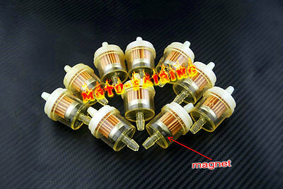 "YAMAHA ATV DIRT BIKE Inline GAS Carburetor Fuel Filter 1/4"" 6mm-7mm ENGINE 10PCS"