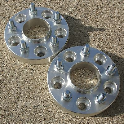 """2pc 1""""   5x4.5 HUBCENTRIC Wheel Spacers for Jeep 1/2"""" Studs 5Lug Adapters"""