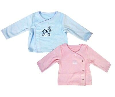 Baby Boys/Girls Soft Velour Wrap Cardigan Jacket Pink,Blue,0-3,3-6,6-9,9-12 mths