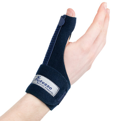 Blue Thumb Spica Support Strap - De Quervains Splint : Tendonitis Arthritis