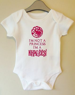 Princess Khaleesi Game Of Thrones Inspired Baby Body Vest Girl Boy Gift Idea