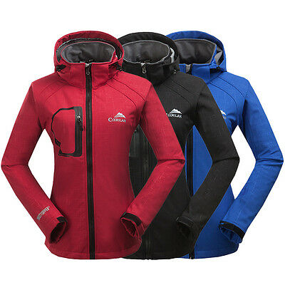 NWT Womens Soft shell Waterproof Wind Coat Outdoor Hiking Sport Hooded Jacket