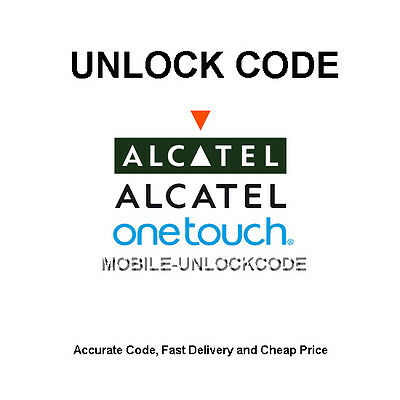 Unlock Code Alcatel One Touch Evolve 3G 5020T One Touch Fierce 4G 7024W T-Mobile