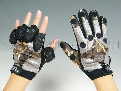 Winter Warm Black Camo camouflage Fishing Glove Hunting Gloves