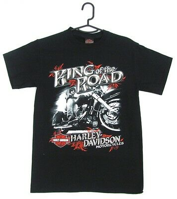 Harley Davidson Genuine Mens Black King Of The Road Short Sleeve Tshirt T Shirt