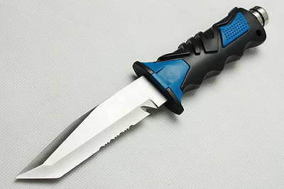 Scuba Gear Diving Camping Hunting Fishing Stainless High Quality Dive Knife Blue