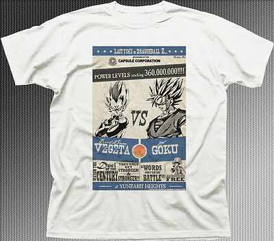 DRAGONBALL Z VEGETA vs GOKU anime manga zinc cotton printed t-shirt HG9930
