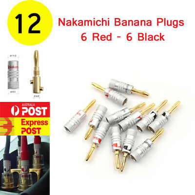 4 X Sawtooth Gold Plated Speaker Cable Wire 4mm Screw Banana Plug Jack Connector