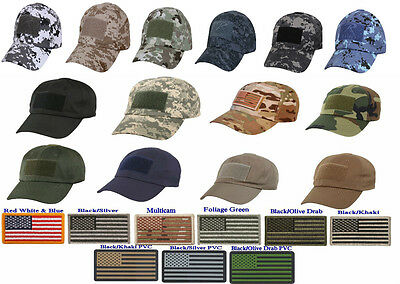 NEW Rothco Low Profile Tactical Adjustable Operator Cap With American Flag Patch