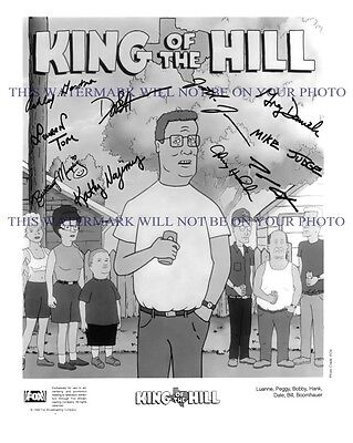 KING OF THE HILL CAST AUTOGRAPHED 8x10 RP PROMO PHOTO GREAT COMEDY