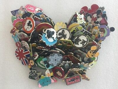 Disney Pins 25 Pin Lot *no Duplicates*100% Tradeable*free Fast Shipping