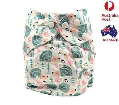 Pocket Modern Cloth Nappies Diaper Adjustable Washable Reusable Free Insert D63)