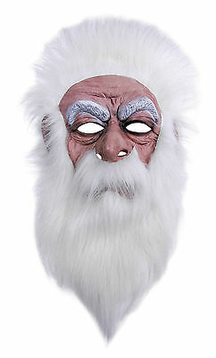 #magician Old Man Wizard Mask White Hair Fairy Tale Fancy Dress Outfit