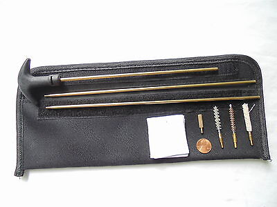 gun cleaning kit of rifle .17 cal: including rod, brush, mop, patch and pouch