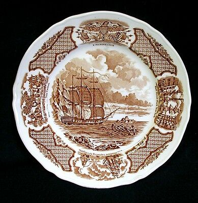 """FAIR WINDS 8"""" Plate THE GEORGE WASHINGTON AT ANCHOR Alfred Meakin Staffordshire"""