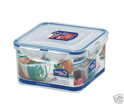 Lock & Lock Clip Lid Square Food Storage Container Lunch Box
