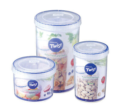 Lock & Lock Round Twist Lid Food Storage Container Box