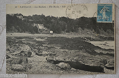 """CPA """" CANCALE - Les Rochers"""