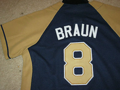 Milwaukee Brewers Ryan Braun Mlb Baseball Majestic Youth Boys(M)New Nwt