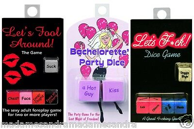 Adult Sex Dice Game Swingers Couples Hen Night Saucy Fun Party Lets F*ck Fool