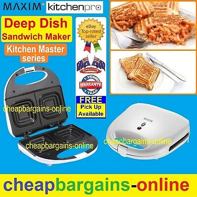 A True Deep Dish Sandwich Maker Press Toaster Jaffle Iron Maker Toastie Nonstick