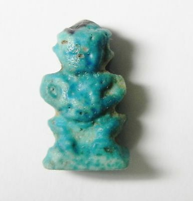 Zurqieh - Sc728 - Ancient Egyptian Faience Amulet Of Pataikos , 1075 - 600 B.c