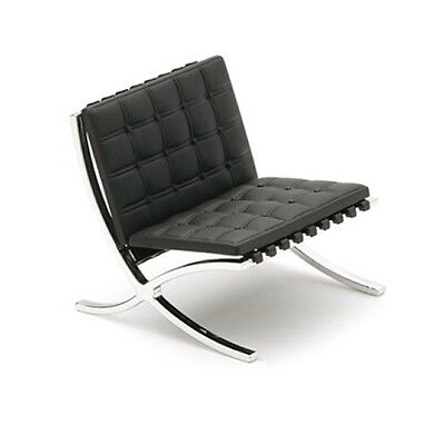 DESIGNERS CHAIR Barcelona Chair black 1:12 DESIGN INTERIOR COLLECTION REAC JAPAN