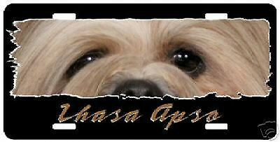"""Lhasa Apso"""" The Eyes Have It """" License Plate"""