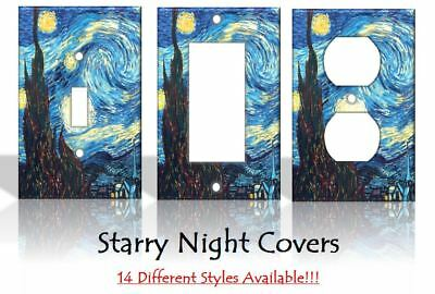 Starry Night Vincent Van Gogh Painting Light Switch Covers Home Decor Outlet