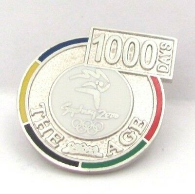 Silver 1000 Days To Go The Age Sydney Olympic Games 2000 Pin Badge Collect #166
