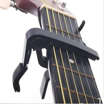 TI AU Quick Change Clamp Key Capo For Acoustic / Electric / Classic Guitar Black