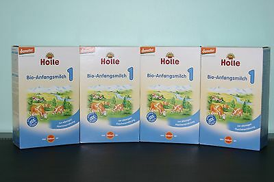Holle Organic Stage 1 Baby Infant Formula (4 Boxes)  Free PRIORITY Shipping