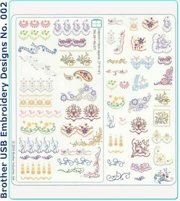 Brother Machine Embroidery USB No.002 Oriental Border Patterns